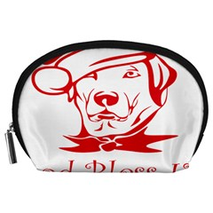 Dog Santa Hat Winter Christmas Accessory Pouches (large)