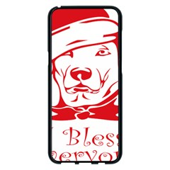Dog Santa Hat Winter Christmas Samsung Galaxy S8 Plus Black Seamless Case