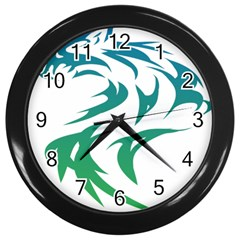 Wolf Dog Fox Animal Pet Vector Wall Clocks (black)