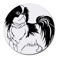 Animal Canine Dog Japanese Chin Round Mousepads