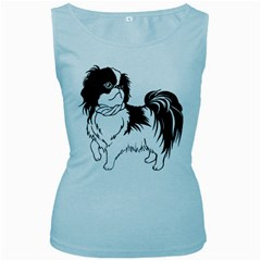 Animal Canine Dog Japanese Chin Women s Baby Blue Tank Top