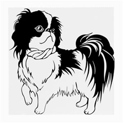 Animal Canine Dog Japanese Chin Medium Glasses Cloth