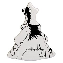 Animal Canine Dog Japanese Chin Christmas Tree Ornament (two Sides)