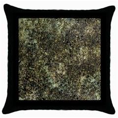 Granite 0158 Throw Pillow Case (black)