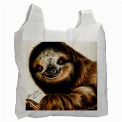 Sloth Smiles Recycle Bag (one Side)