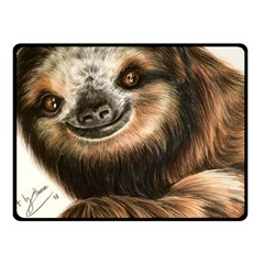 Sloth Smiles Fleece Blanket (small) by ArtByThree