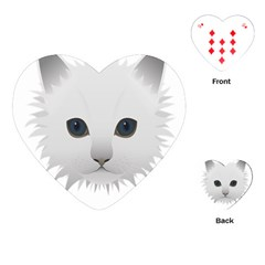 Cat Animal Pet Kitty Cats Kitten Playing Cards (heart)