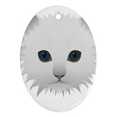 Cat Animal Pet Kitty Cats Kitten Oval Ornament (two Sides)