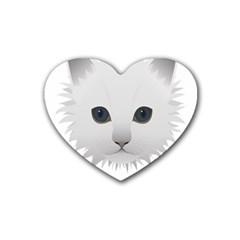 Cat Animal Pet Kitty Cats Kitten Heart Coaster (4 Pack)