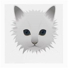 Cat Animal Pet Kitty Cats Kitten Medium Glasses Cloth (2 Side)