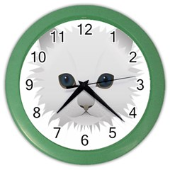 Cat Animal Pet Kitty Cats Kitten Color Wall Clocks