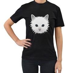 Cat Animal Pet Kitty Cats Kitten Women s T Shirt (black)
