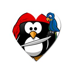 Penguin Pirate Tux Animal Bandana Heart Magnet