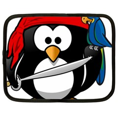 Penguin Pirate Tux Animal Bandana Netbook Case (xl)
