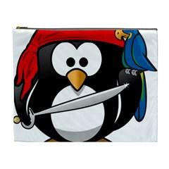 Penguin Pirate Tux Animal Bandana Cosmetic Bag (xl)
