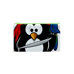 Penguin Pirate Tux Animal Bandana Cosmetic Bag (xs)