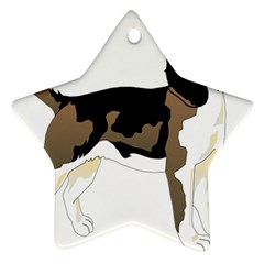 Black White Dog Beagle Pet Animal Ornament (star)