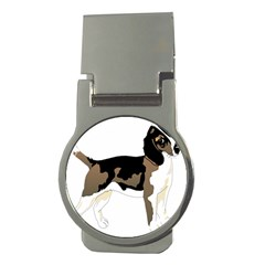 Black White Dog Beagle Pet Animal Money Clips (round)