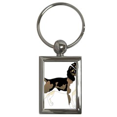 Black White Dog Beagle Pet Animal Key Chains (rectangle)