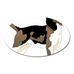Black White Dog Beagle Pet Animal Oval Magnet