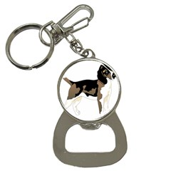 Black White Dog Beagle Pet Animal Bottle Opener Key Chains