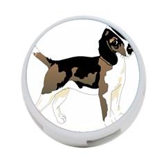Black White Dog Beagle Pet Animal 4 Port Usb Hub (two Sides)