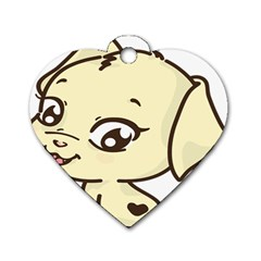 Doggy Dog Puppy Animal Pet Figure Dog Tag Heart (two Sides)