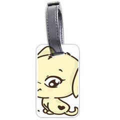 Doggy Dog Puppy Animal Pet Figure Luggage Tags (two Sides)
