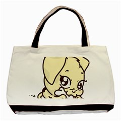 Doggy Dog Puppy Animal Pet Figure Basic Tote Bag