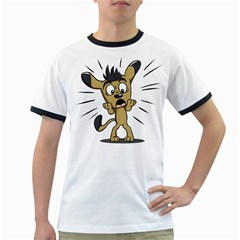 Animal Canine Cartoon Dog Pet Ringer T Shirts