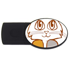 Animal Cat Feline Kitten Pet Usb Flash Drive Oval (4 Gb)