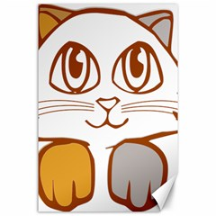 Animal Cat Feline Kitten Pet Canvas 24  X 36