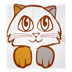 Animal Cat Feline Kitten Pet Shower Curtain 66  X 72  (large)