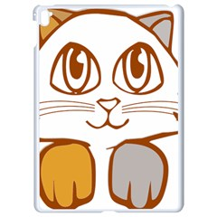 Animal Cat Feline Kitten Pet Apple Ipad Pro 9 7   White Seamless Case