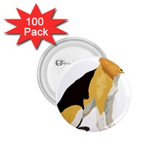 Black Yellow Dog Beagle Pet 1 75  Buttons (100 Pack)