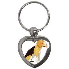 Black Yellow Dog Beagle Pet Key Chains (heart)