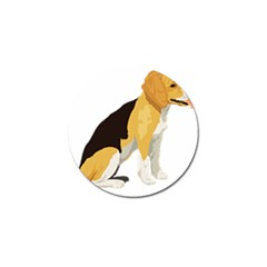 Black Yellow Dog Beagle Pet Golf Ball Marker (10 Pack)
