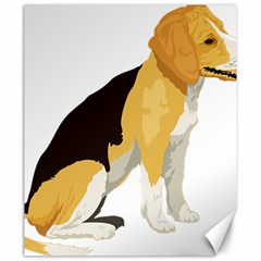 Black Yellow Dog Beagle Pet Canvas 20  X 24