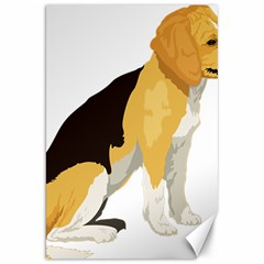 Black Yellow Dog Beagle Pet Canvas 20  X 30
