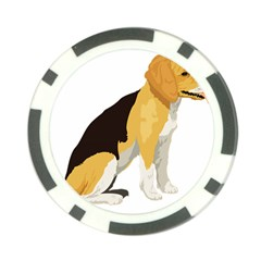 Black Yellow Dog Beagle Pet Poker Chip Card Guard