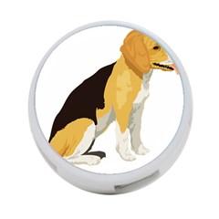 Black Yellow Dog Beagle Pet 4 Port Usb Hub (one Side)