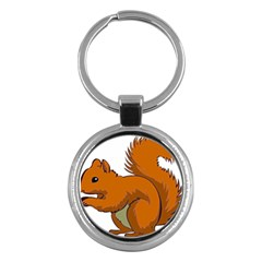 Squirrel Animal Pet Key Chains (round)  by Sapixe