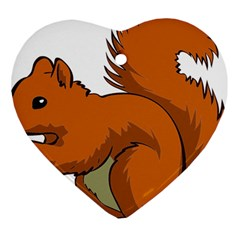 Squirrel Animal Pet Heart Ornament (two Sides)