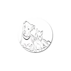 Dog Cat Pet Silhouette Animal Golf Ball Marker (10 Pack)