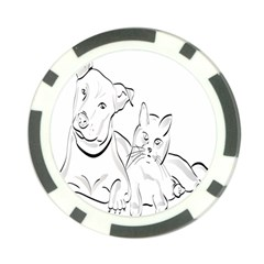 Dog Cat Pet Silhouette Animal Poker Chip Card Guard