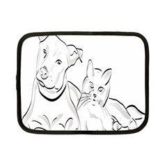 Dog Cat Pet Silhouette Animal Netbook Case (small)