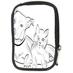 Dog Cat Pet Silhouette Animal Compact Camera Cases