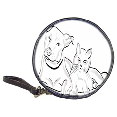 Dog Cat Pet Silhouette Animal Classic 20 Cd Wallets