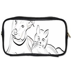 Dog Cat Pet Silhouette Animal Toiletries Bags
