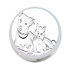 Dog Cat Pet Silhouette Animal 4 Port Usb Hub (one Side)